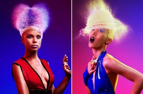 """Забавные """"парики"""" из брызг в фотографиях Tim Tadder"""