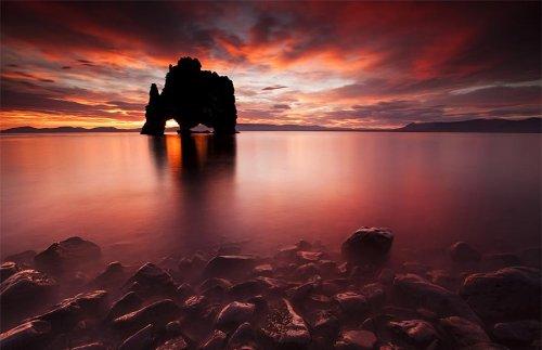 Исландская скала Hvitserkur – уникальное творение природы