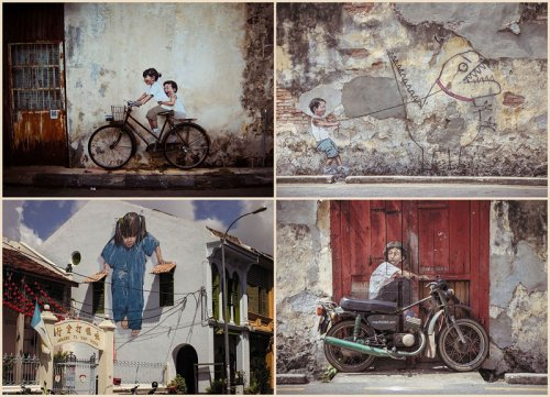 Интерактивные рисунки уличного художника Эрнеста Захаревича