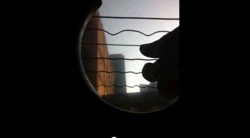 Колебания струн захваченные с iPhone 4