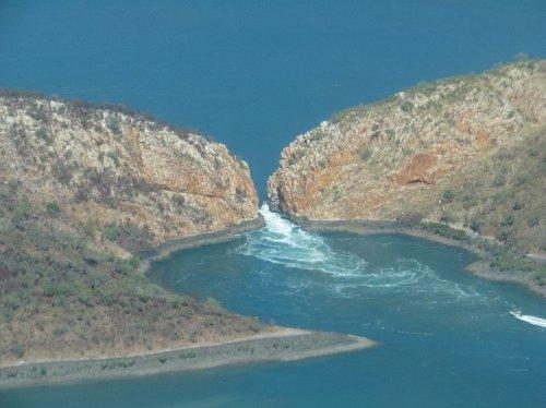 Горизонтальные водопады в заливе Талбот, Австралия