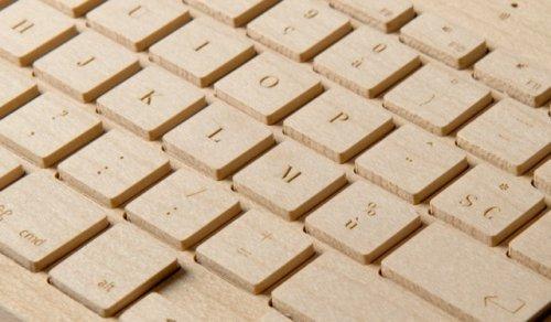 Беспроводная деревянная клавиатура от «Oree»