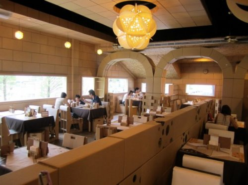 Картонный ресторан в Тайване