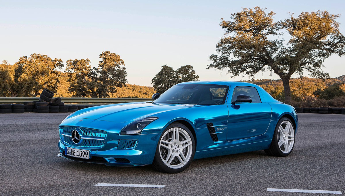 Mercedes benz sls amg electric drive for Mercedes benz electric drive