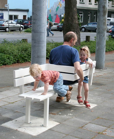 Креативные скамейки от датского дизайнера Jeppe Hein