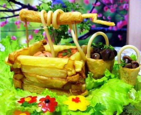 Блюда из лисичек картошкой