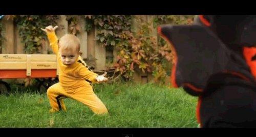 Бой ребенка с драконом