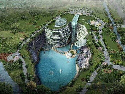 Начато строительство удивительной подземной гостиницы в Сунцзян