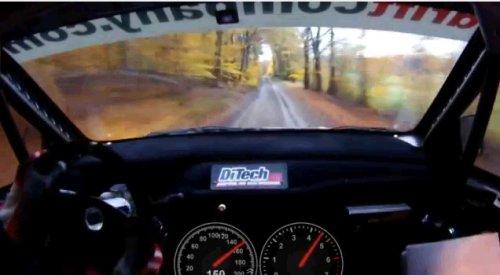 На бешенной скорости по лесной дороге
