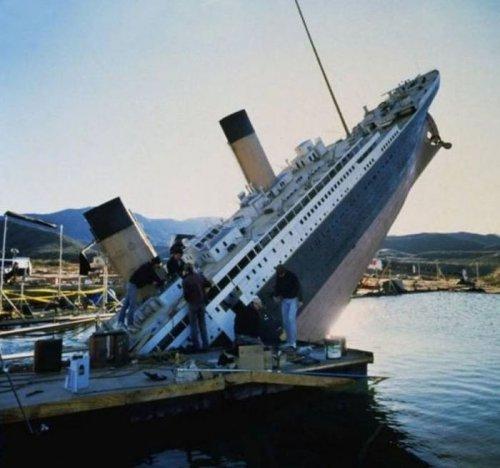 "Как снимали ""Титаник"" (34 фото)"
