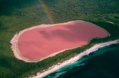8 самых потрясающих в мире розовых озёр