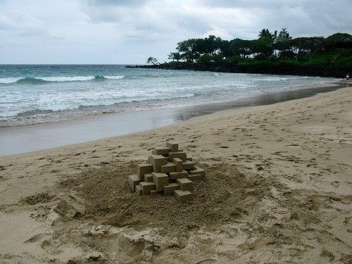 Геометрические песочные замки от Калвина Зиберта