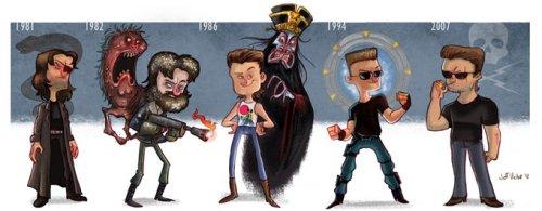 Эволюция голливудских актеров в иллюстрациях Джеффа Виктора