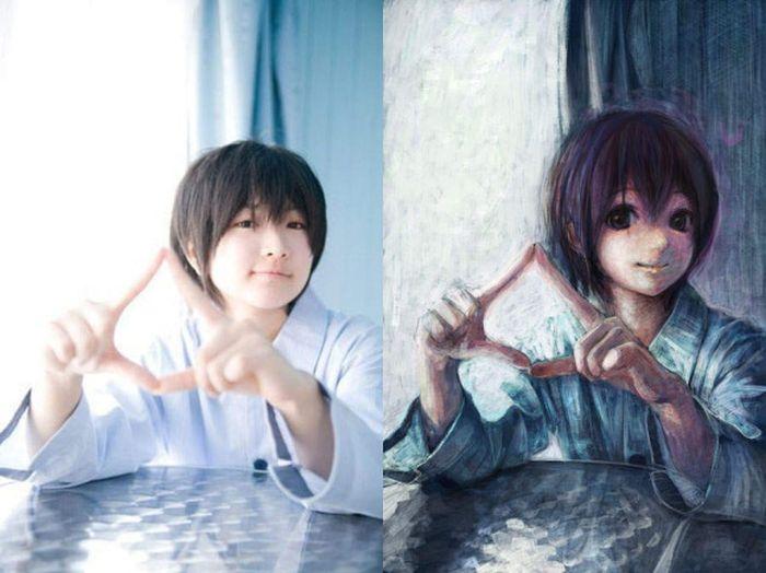 Как сделать рисунок аниме из фото