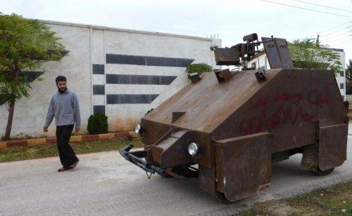 Самодельный броневик сирийских борцов с врагами ислама