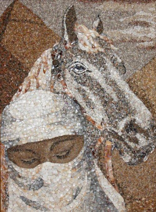 Прекрасные мозаики из песка и ракушек, созданные Светланой Иванченко