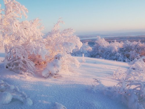 Обои на рабочий стол с зимними пейзажами (32 шт)