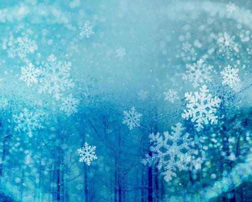Красивые обои со снежинками (25 шт)