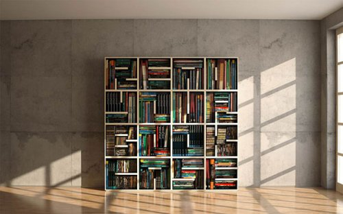 Креативные и оригинальные дизайны книжных полок