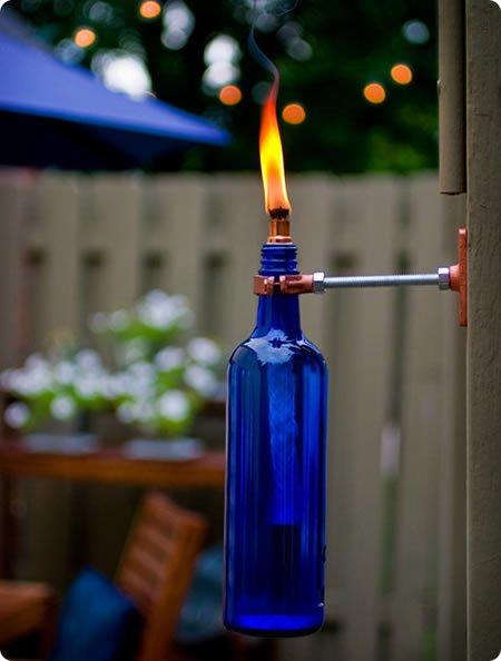 Бутылочный декор: интересно, красиво, экологично - фото 11