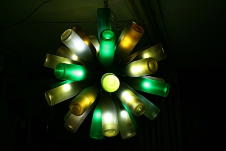 Бутылочный декор: интересно, красиво, экологично - фото 10