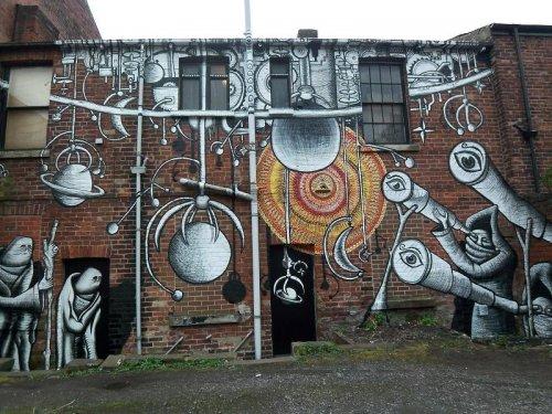 Стрит-арт работы британского художника Phlegm (16 фото)