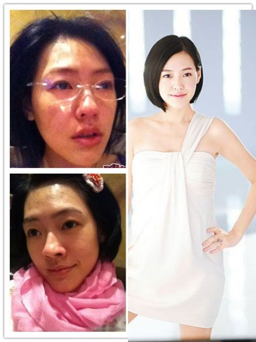 Азиатки до и после нанесения макияжа (16 фото)