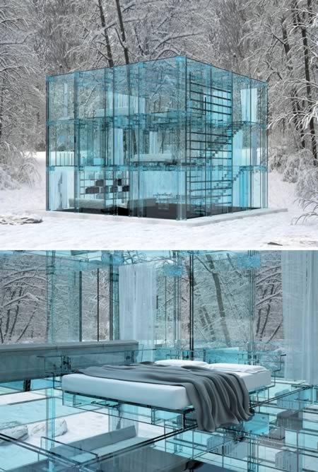 11 Самых удивительных стеклянных домов