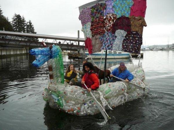 Своими руками лодка из пластиковой бутылки