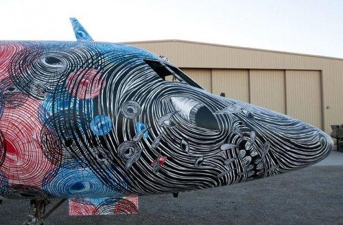 Проект Кладбище самолётов: искусство на заброшенных самолётах (18 фото)