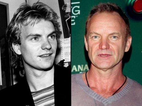 Рок-музыканты в прошлом и сейчас (20 фото)