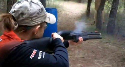 13-летняя Кэйтлин Фрэнсис отлично стреляет