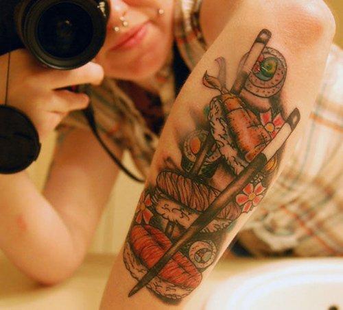 Гастрономические татуировки (27 шт)