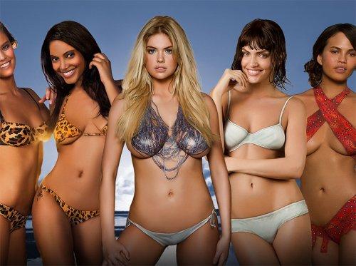 Бодиарт-купальники на моделях в Sports Illustrated Swimsuit 2013 (22 фото)