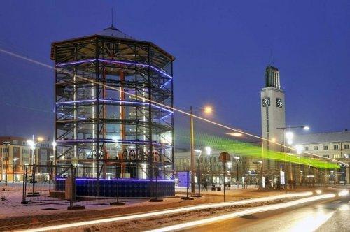 Роботизированная парковочная башня для велосипедов в Чехии