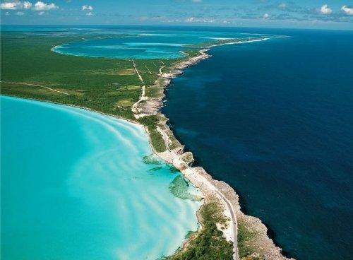 Атлантический океан и Карибское море у Эльютеры