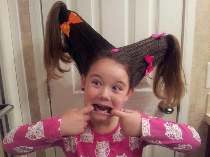 Прикольные причёски для девочек