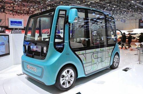 Концепт электрического мини-автобуса microMAX от Rinspeed (16 фото)