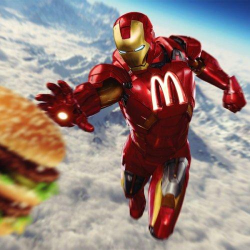 Супергерои в одежде от спонсоров (30 фото)