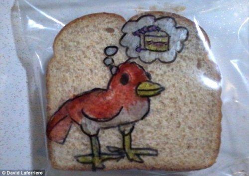 Рисунки на упаковках для сэндвичей (11 фото)