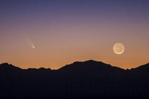 С марта до середины апреля в небе будет видна комета Панстаррс (15 фото)