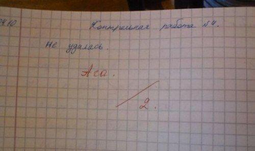 Весёлые записи в школьных тетрадках и дневниках (9 фото)