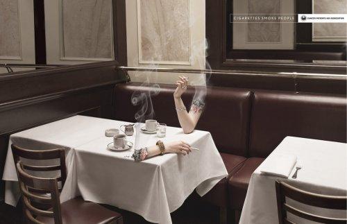 Плакаты с социальной рекламой против курения (12 шт)