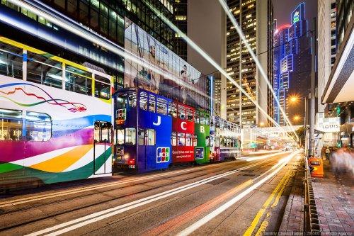 Гонконгские трамваи (28 фото + 1 видео)