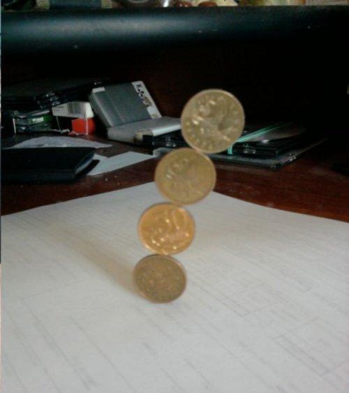 Фокус Волшебные монеты (6 фото)