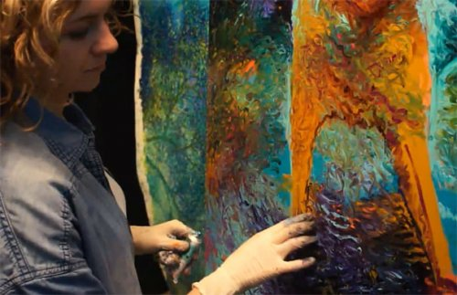 Великолепные картины Айрис Скотт, написанные пальцами (17 фото + 1 видео)