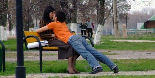 Не самые удачные поцелуи (18 фото)
