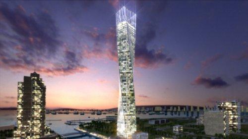 Необычные небоскрёбы спиралевидной конструкции (30 фото)