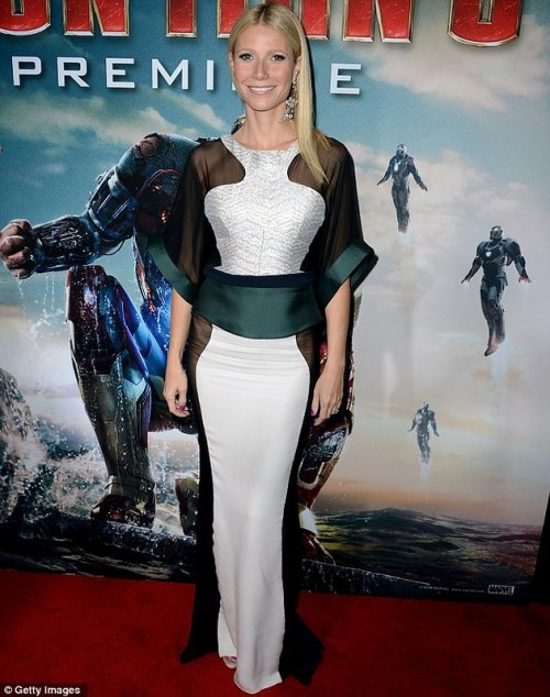 Откровенный наряд Гвинет Пэлтроу на премьере фильма Железный человек 3 (6 фото)