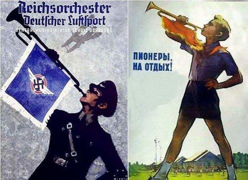 Агитационные плакаты, выпускавшиеся в Советском Союзе и Германии (21 шт)